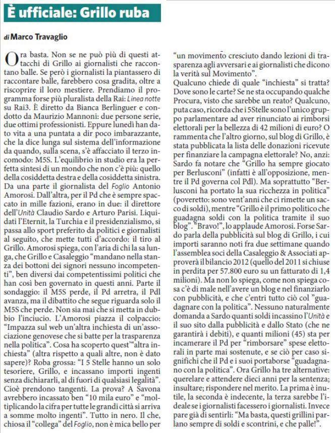 L'editoriale del difensore d'ufficio di Grillo
